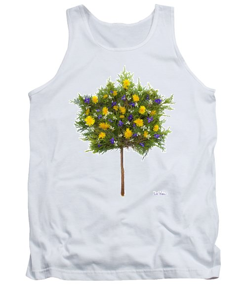 Tank Top featuring the photograph Dandelion Violet Tree by Lise Winne