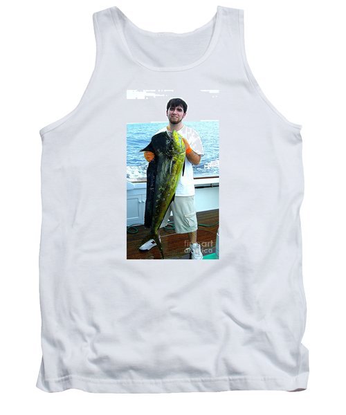 Danny Caught A Huge Dolphin Fish Tank Top by Merton Allen