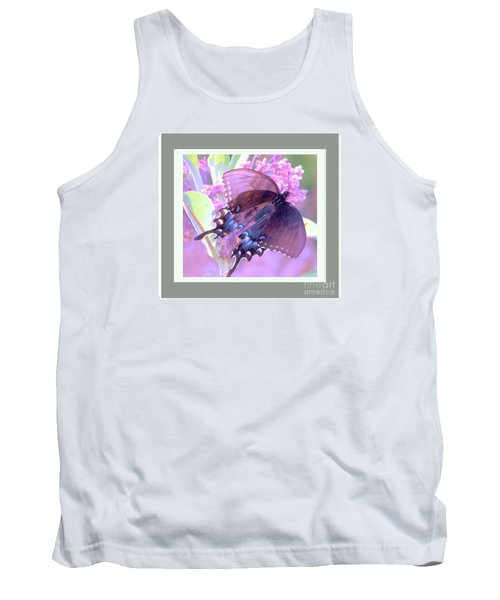 Tank Top featuring the photograph Dark Butterfly by Shirley Moravec