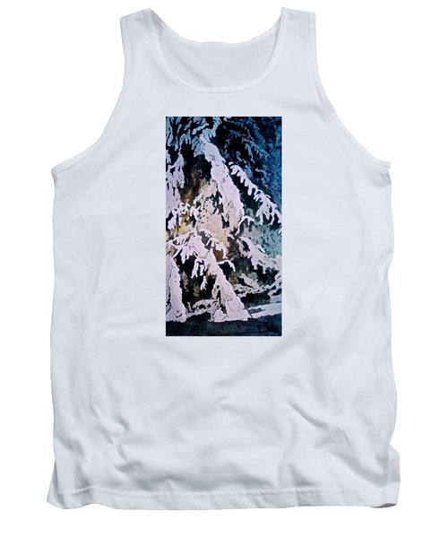 Tank Top featuring the painting Dark Cover by Carolyn Rosenberger