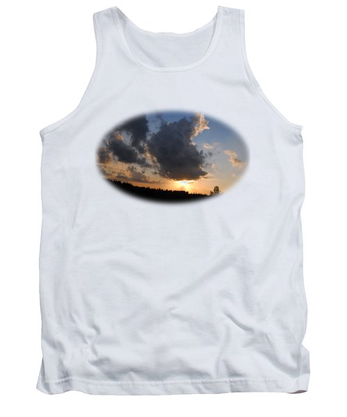 Dark Sunset T-shirt Tank Top by Isam Awad