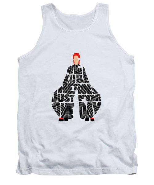 David Bowie Typography Art Tank Top
