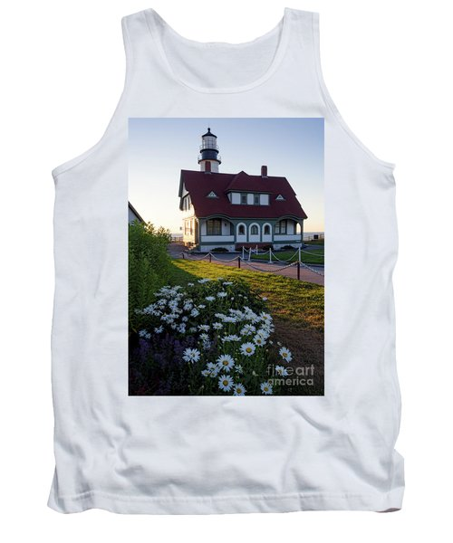 Dawn At Portland Head Light, Cape Elizabeth, Maine  -08614 Tank Top by John Bald