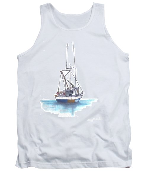 Tank Top featuring the drawing Days End by Terry Frederick