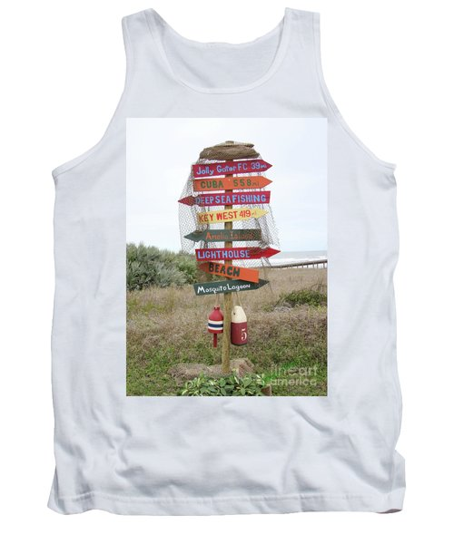 Tank Top featuring the photograph Daytona Crossroads by Dodie Ulery