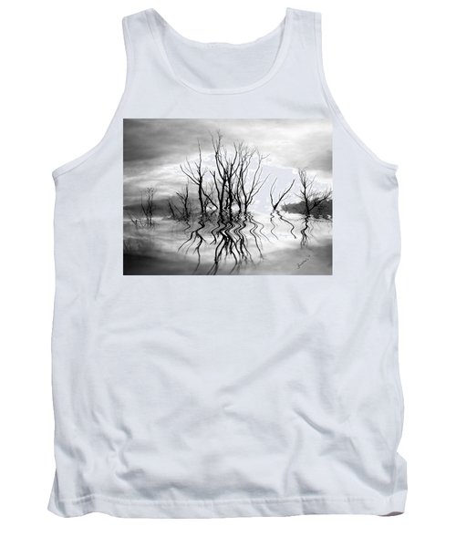Tank Top featuring the photograph Dead Trees Bw by Susan Kinney