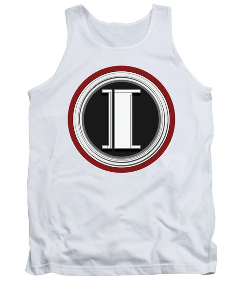 Deco Cafe Marquee  Monogram  Letter I Tank Top