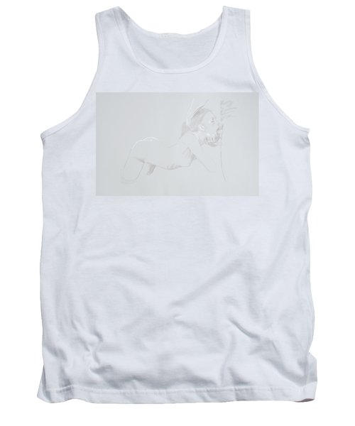 Tank Top featuring the mixed media Deepthroat by TortureLord Art