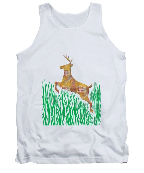 Deer In Grass Tank Top by Aimee L Maher Photography and Art Visit ALMGallerydotcom