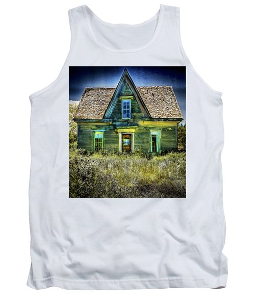 Deer Isle Haunted House Tank Top