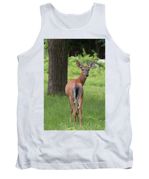 Deer Looking Back Tank Top