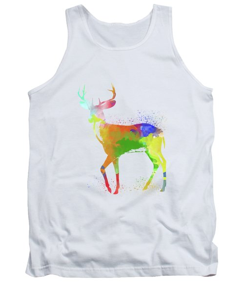 Deer Watercolor 1 Tank Top