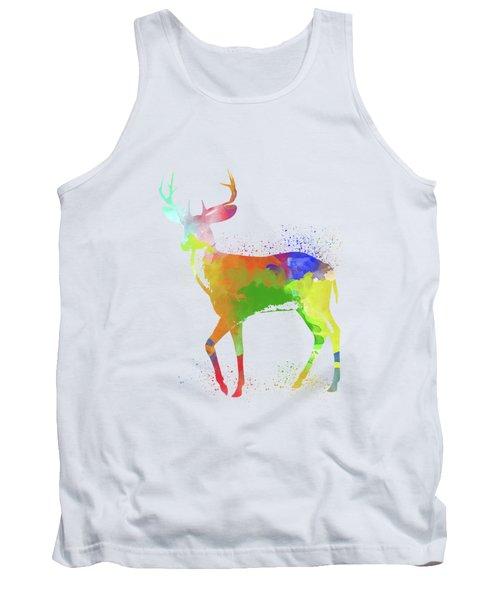 Deer Watercolor 1 Tank Top