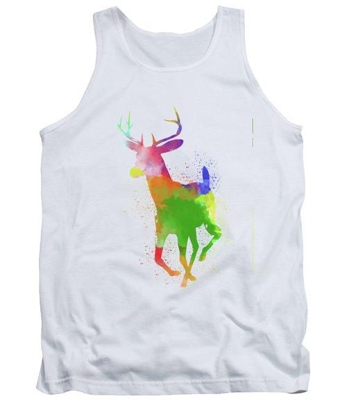 Deer Watercolor 2 Tank Top