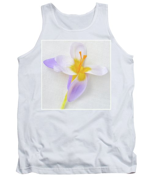 Tank Top featuring the photograph Delicate Art Of Crocus by Terence Davis
