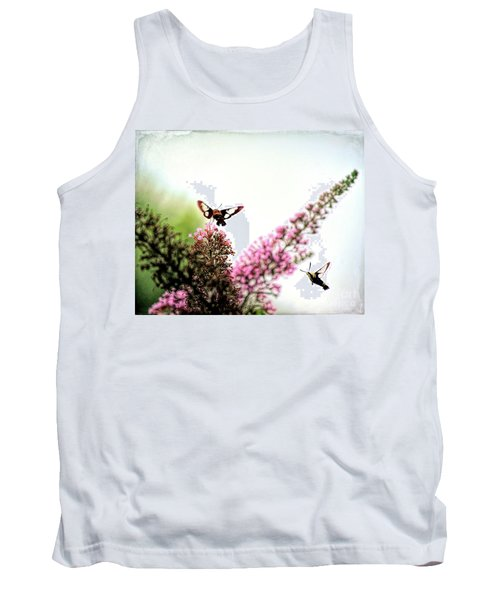 Tank Top featuring the photograph Delight And Joy - Hummingbird Moths In Flight by Kerri Farley