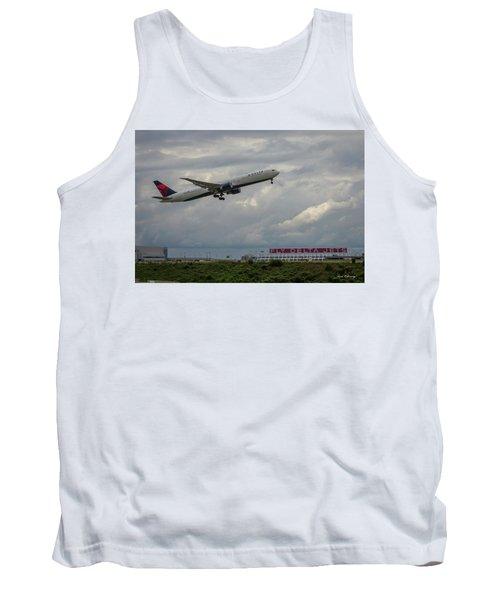 Delta Airlines Jet N836mh Hartsfield Jackson International Airport Art Tank Top