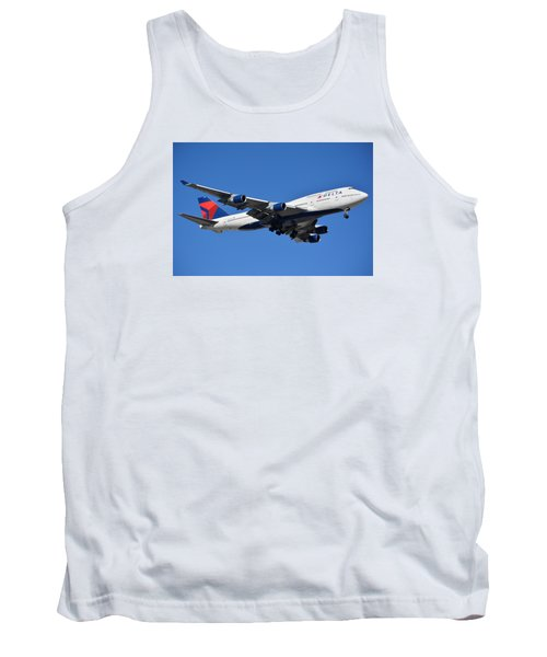 Delta Boeing 747-451 N662us Phoenix Sky Harbor January 12 2015 Tank Top