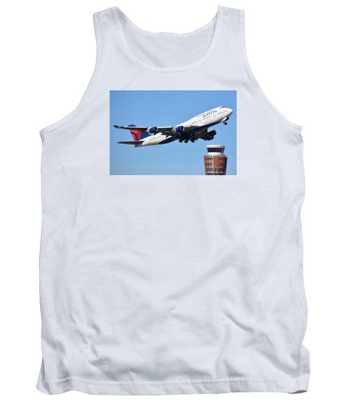 Delta Boeing 747-451 N674us Phoenix Sky Harbor January 12 2015 Tank Top