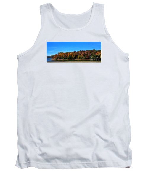 Tank Top featuring the photograph Delta Lake State Park Foliage by Diane E Berry