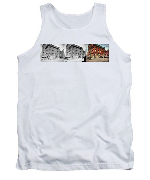 Tank Top featuring the photograph Dentist - Peerless Painless Dental Parlors 1910 - Side By Side by Mike Savad