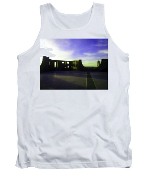 Tank Top featuring the photograph Denver Art Museum Deck 1 by Marilyn Hunt