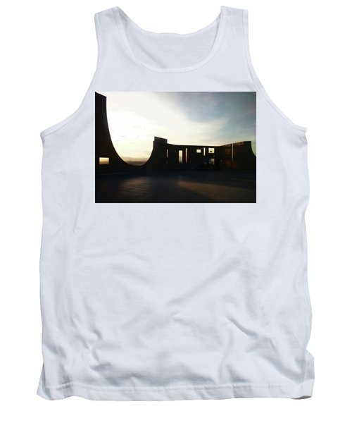 Tank Top featuring the photograph Denver Art Museum Ponti Deck by Marilyn Hunt