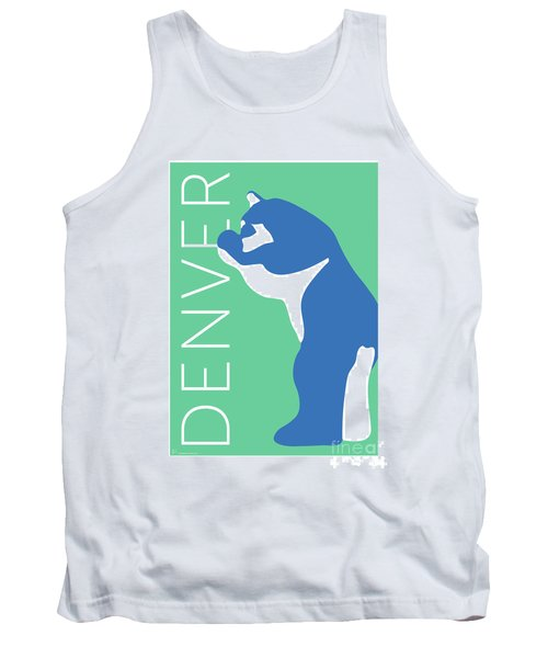 Denver Blue Bear/aqua Tank Top