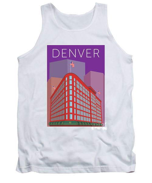 Denver Brown Palace/purple Tank Top
