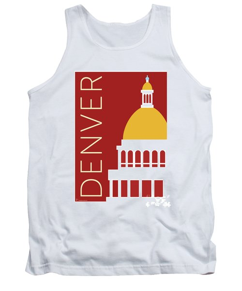 Denver Capitol/maroon Tank Top