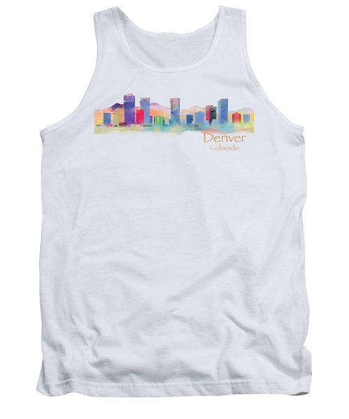 Denver Colorado Skyline Tshirts And Accessories Tank Top