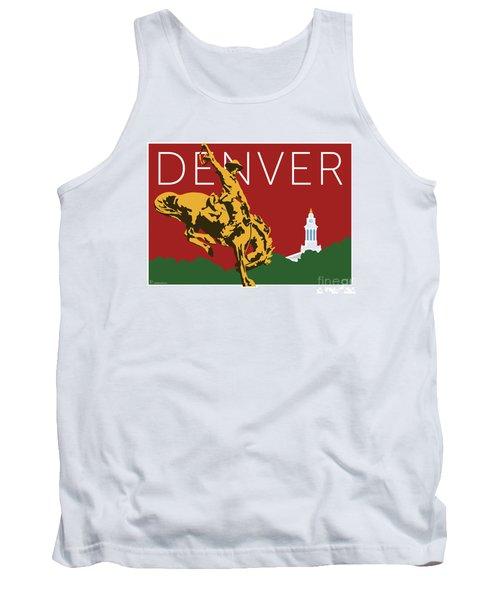 Denver Cowboy/maroon Tank Top