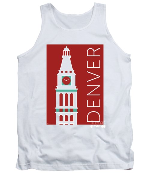 Denver D And F Tower/maroon Tank Top
