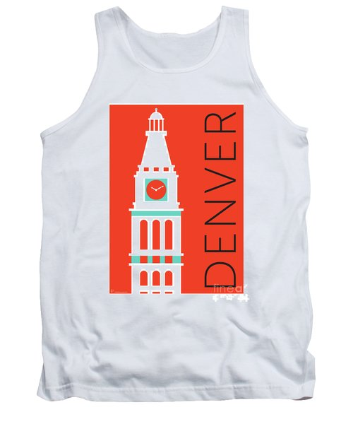 Denver D And F Tower/orange Tank Top