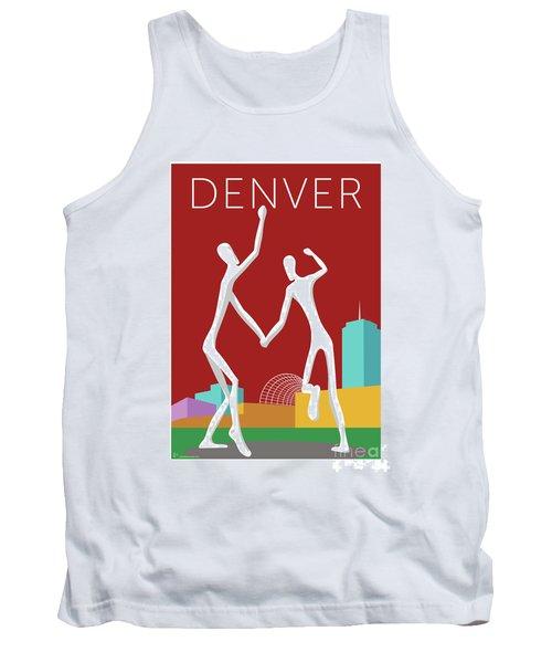 Denver Dancers/maroon Tank Top