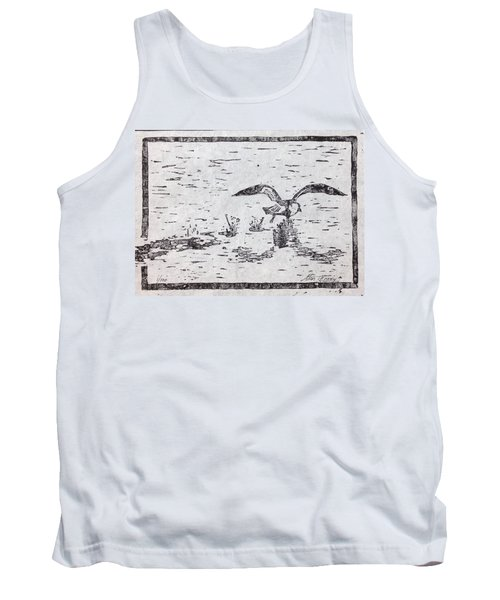 Departure Woodcut  Tank Top