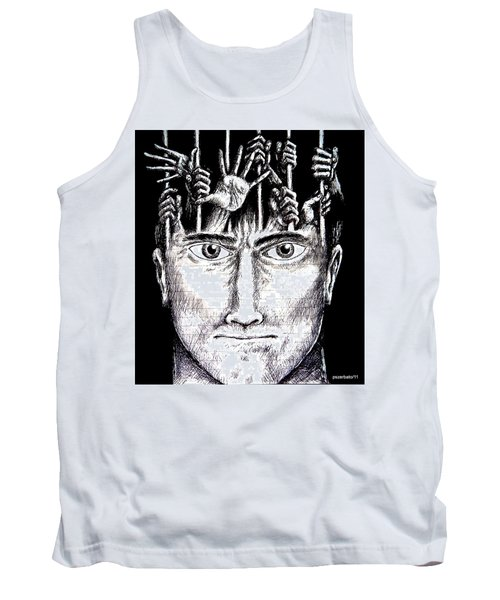 Deprivation Of Freedom Of Expression Tank Top by Paulo Zerbato