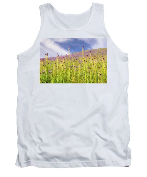 Desert Candles At Carrizo Plain Tank Top by Marc Crumpler