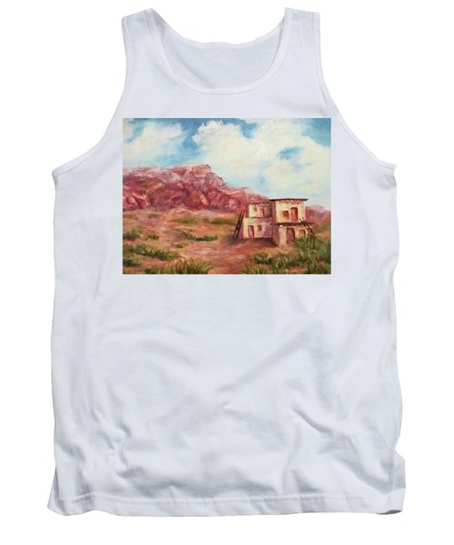 Desert Pueblo Tank Top by Roseann Gilmore