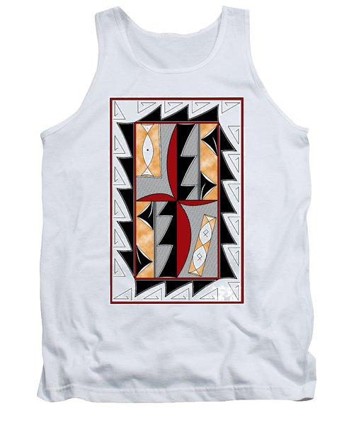 Southwest Collection - Design One In Red Tank Top
