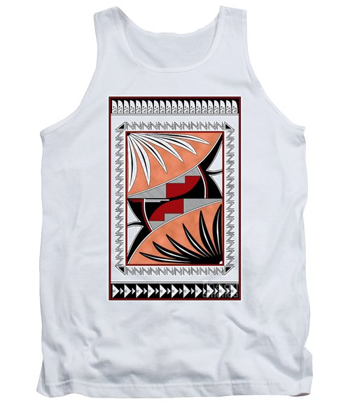 Southwest Collection - Design Three In Red Tank Top