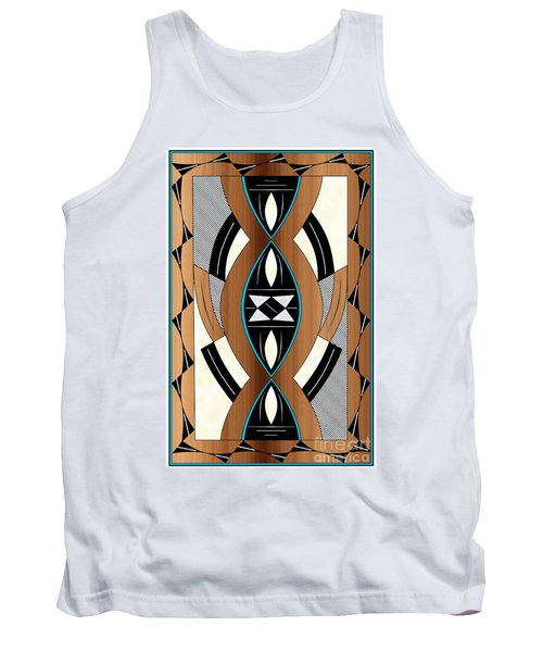 Southwest Collection - Design Two In Blue Tank Top
