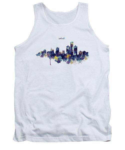 Detroit Skyline Silhouette Tank Top
