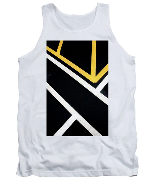 Tank Top featuring the photograph Diagonal Path Traffic Lines by Gary Slawsky