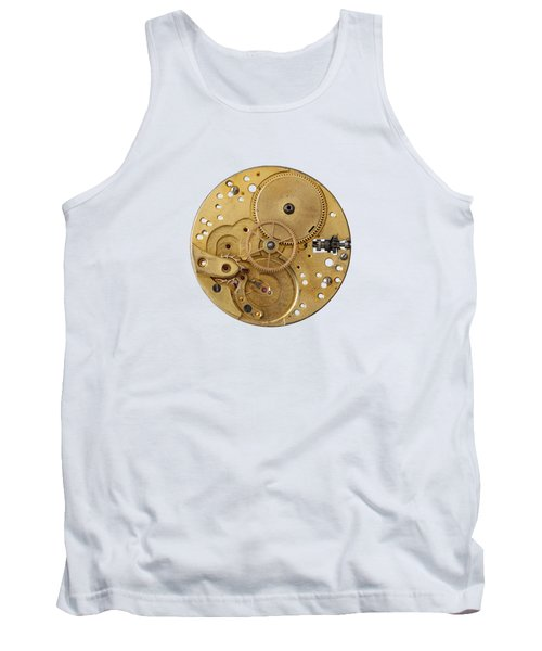 Tank Top featuring the photograph Dismantled Clockwork Mechanism by Michal Boubin