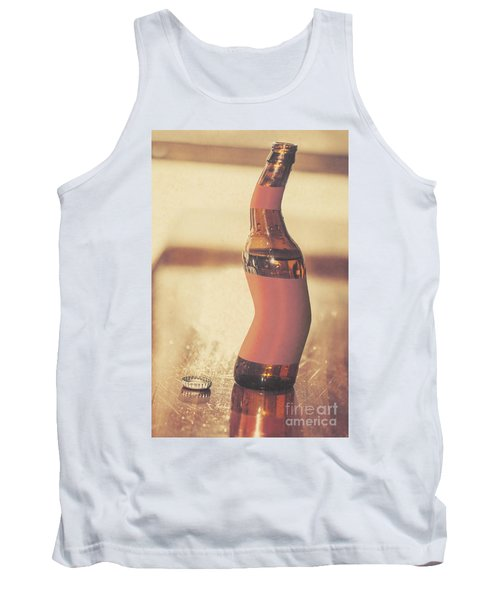 Distorted Beer Bottle Doing A Warped Dance Tank Top