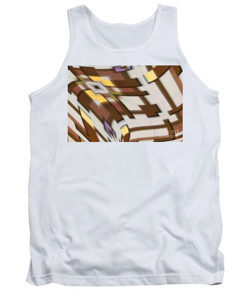 Tank Top featuring the digital art Distortion by Wendy Wilton