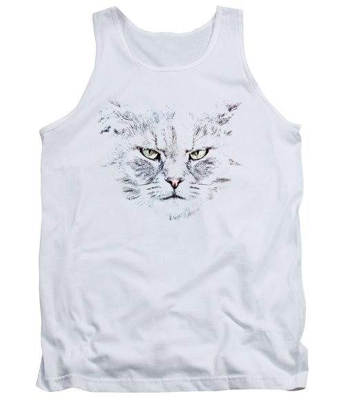 Tank Top featuring the photograph Disturbed Cat by Everet Regal