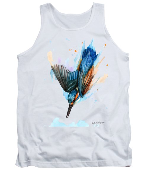 Diving Kingfisher Tank Top