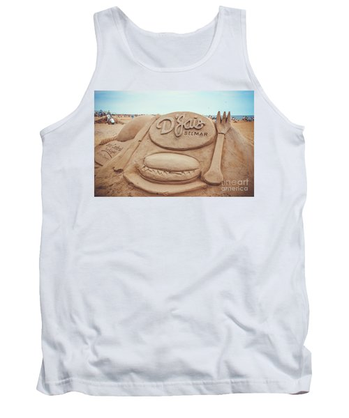 Tank Top featuring the photograph D'jais Belmar Sandcastle by Colleen Kammerer